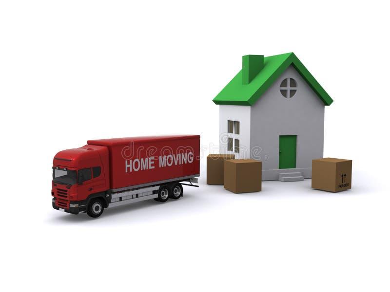 flytta sig för hus royaltyfri illustrationer