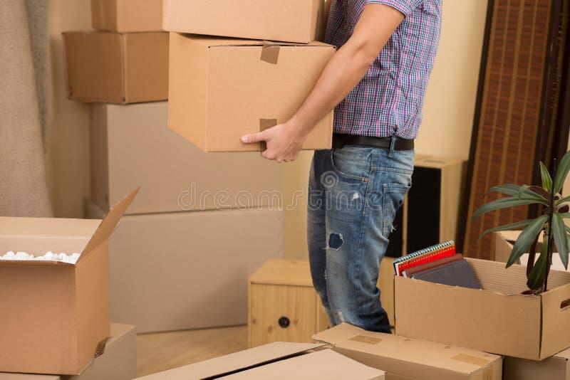 Flytta sig in i ett nytt hus arkivfoton