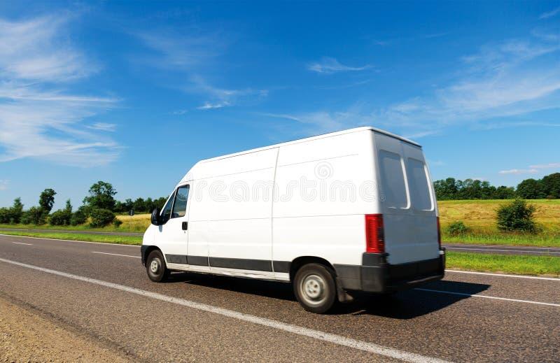 flytta skåpbilen royaltyfri bild