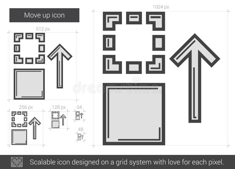 Flytta upp linjen symbol vektor illustrationer