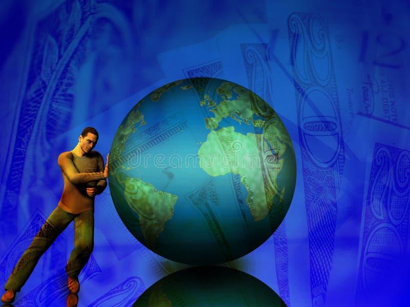 flytta världen vektor illustrationer