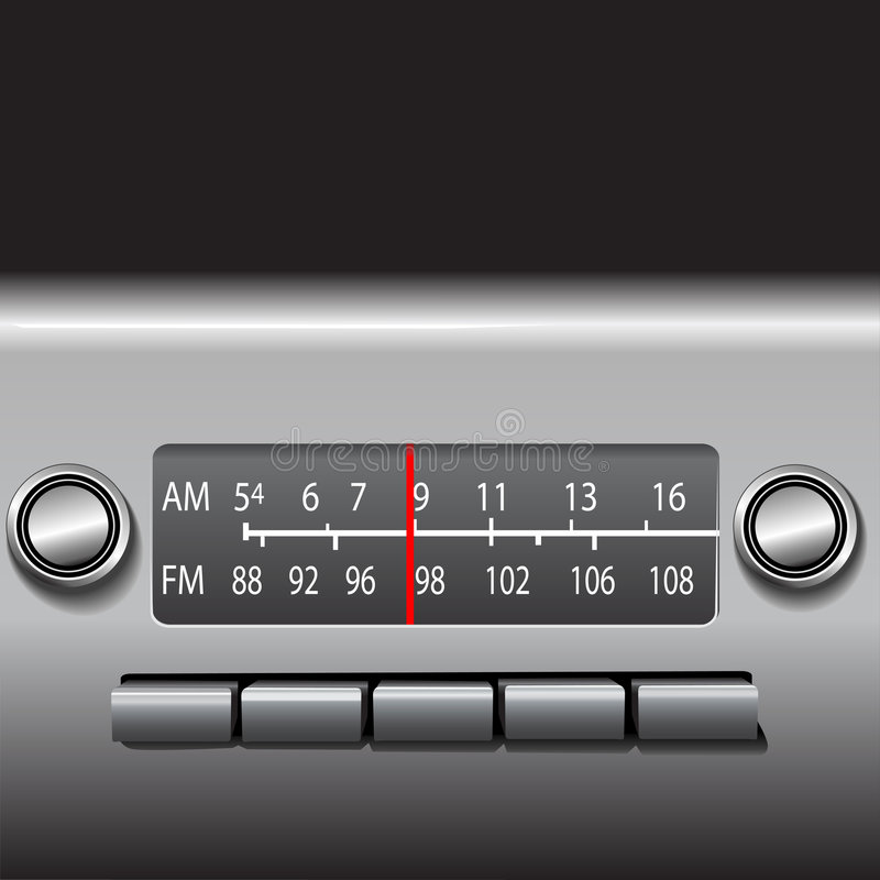 AM FM Car Dashboard Radio stock images