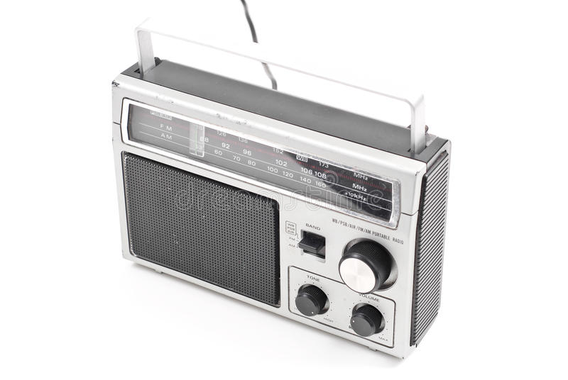 AM FM Rocznika Radio obrazy stock
