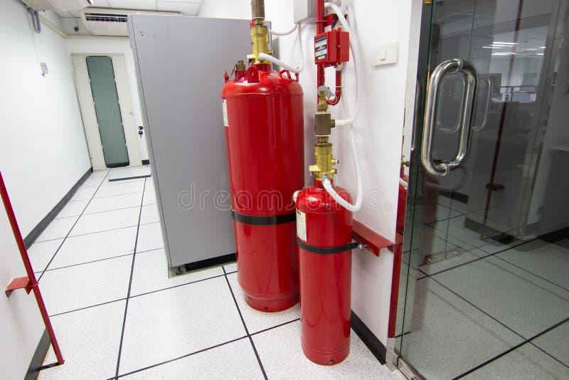 FM-200 systemów stłumienie, FM200 gazu wylew system zdjęcie stock