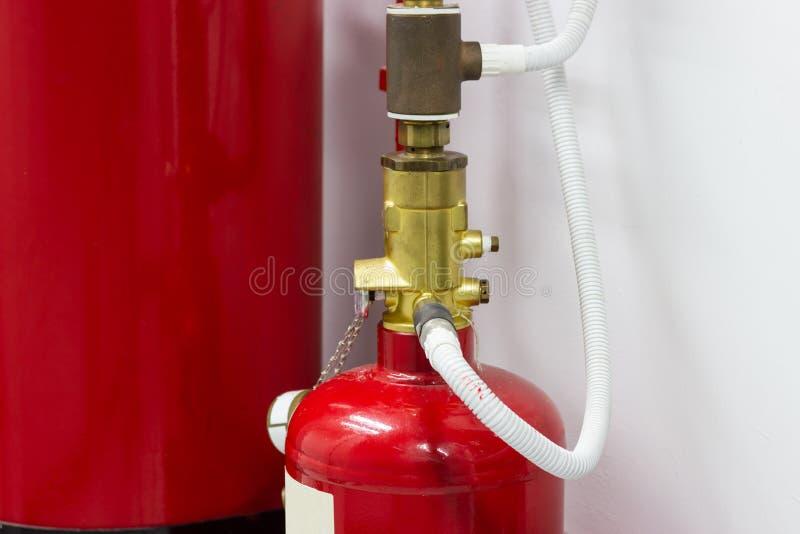 FM-200 systemów stłumienie, FM200 gazu wylew system obrazy stock