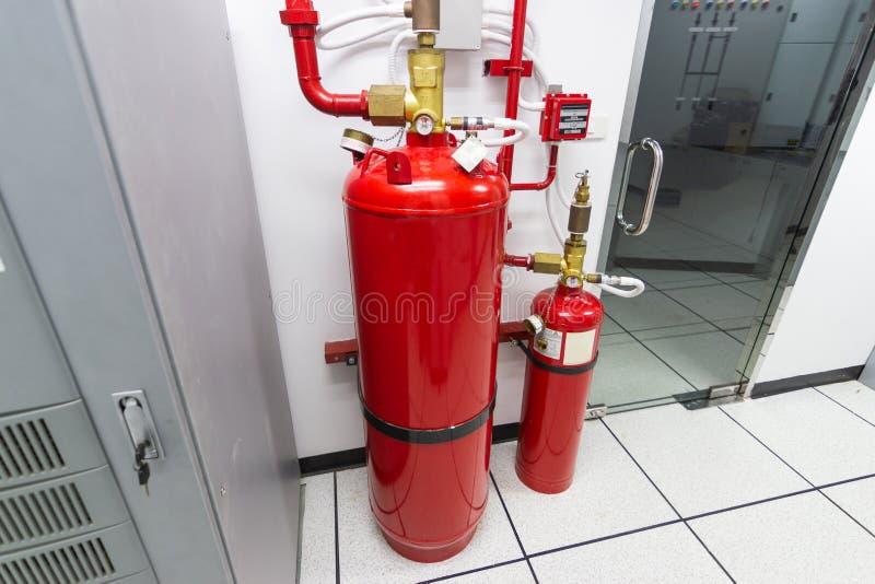 FM-200 systemów stłumienie, FM200 gazu wylew system zdjęcie royalty free
