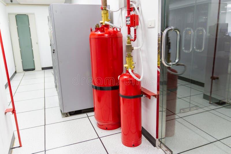 FM-200 systemów stłumienie, FM200 gazu wylew system obraz royalty free