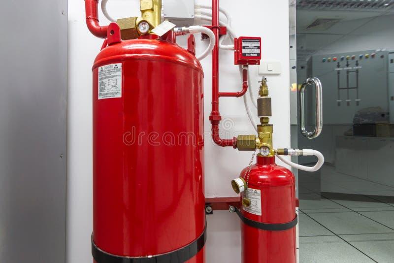 FM-200 systemów stłumienie, FM200 gazu wylew system fotografia royalty free