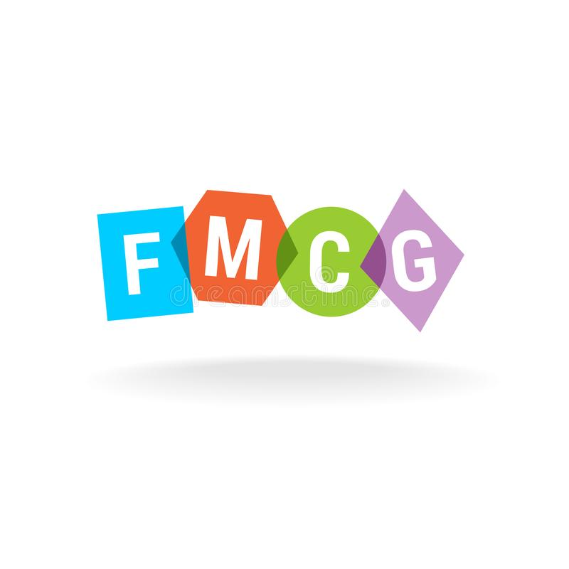 FMCG acronym. Letters logo. Fast moving consumer goods. royalty free illustration