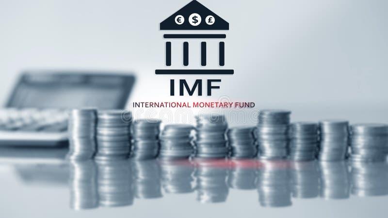 FMI (fondo monetario internazionale) Fondo monetario internazionale Concetto 2 contare e di finanza immagine stock