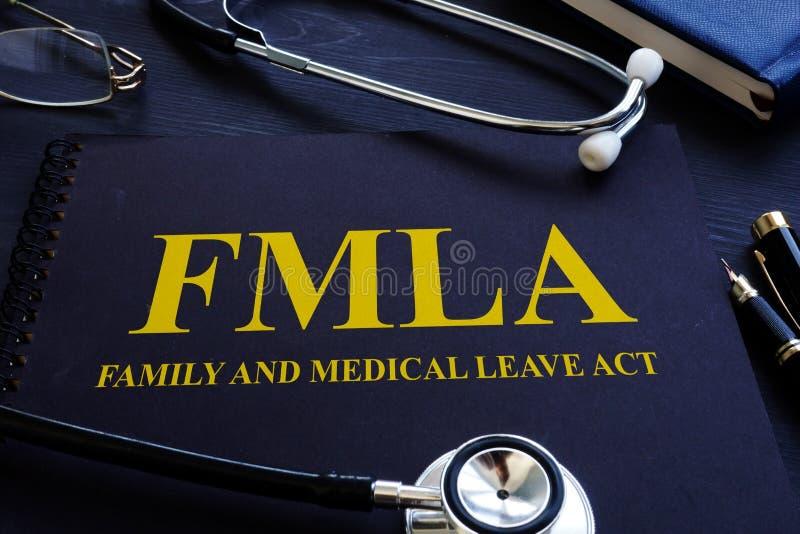 FMLA rodzinnego, medycznego urlopu stetoskop i obrazy royalty free