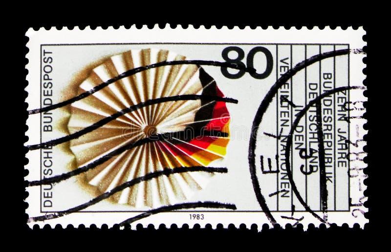 FN (Förenta Nationerna), Tysklandmedlemskap, 10th årsdagserie, royaltyfri bild