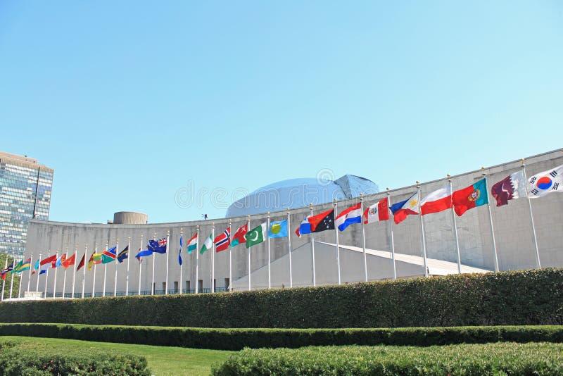 FN-högkvarter i New York arkivfoton