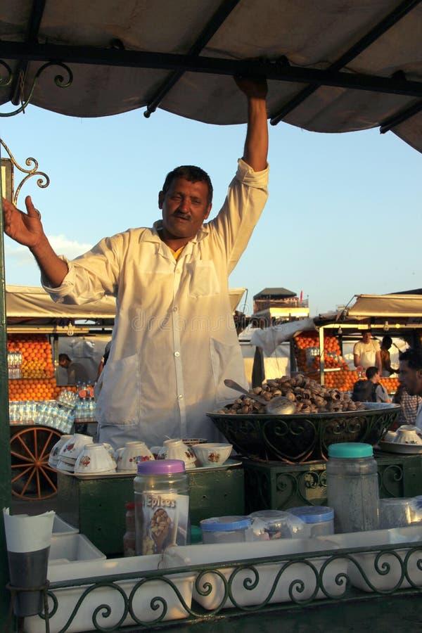Fnaa van Djem Gr van het plein in Marrakech stock fotografie
