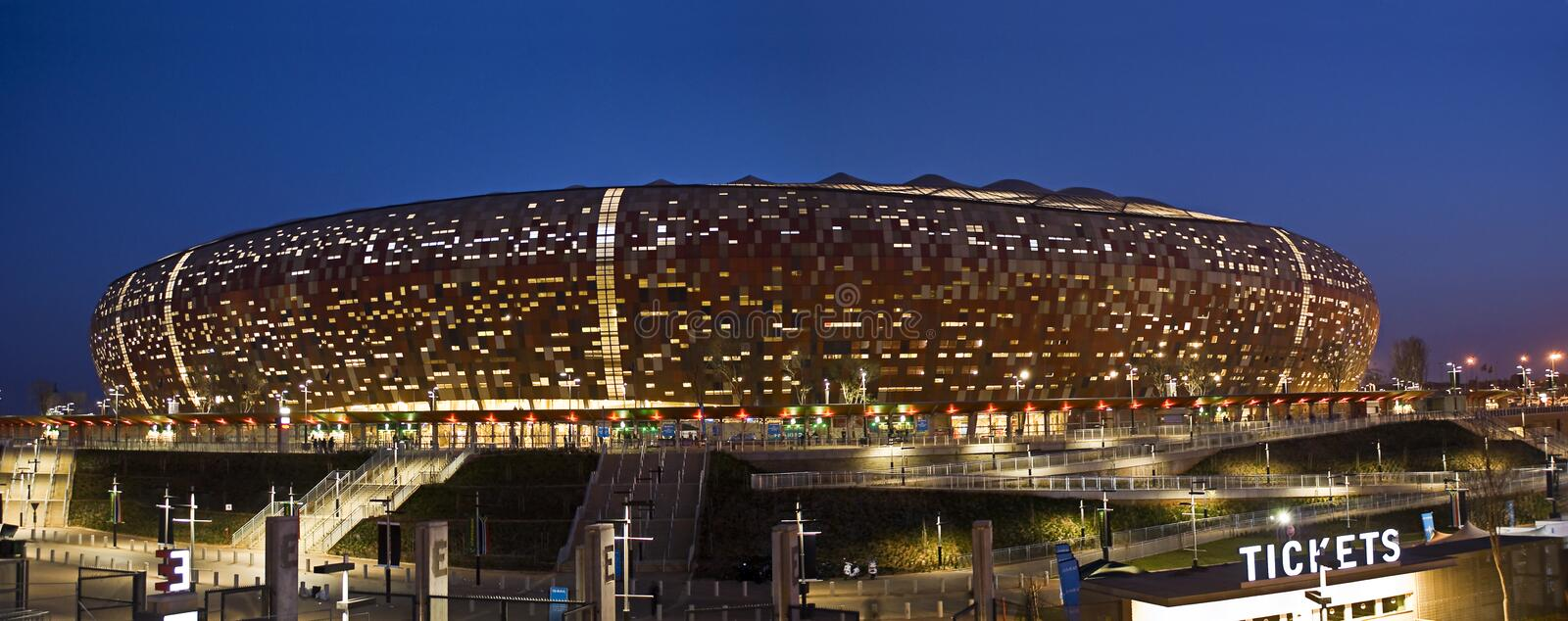 FNB Stadium - National Stadium (Soccer City). FNB Stadium, or The National Stadium (and formerly known as Soccer City), situated in Nasrec, Soweto, Johannesburg stock image