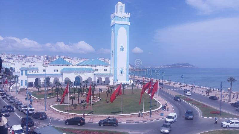 Fnideq摩洛哥清真寺 免版税库存照片