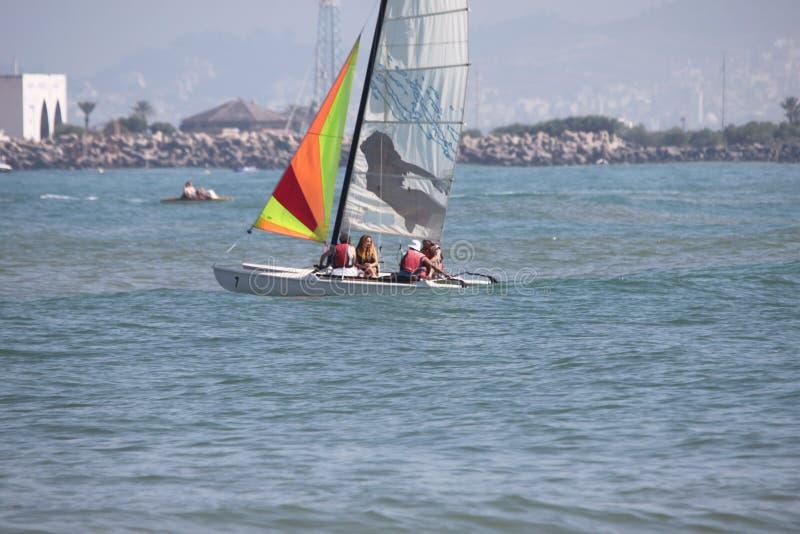 Fnideq hav på sommar 2016 fotografering för bildbyråer