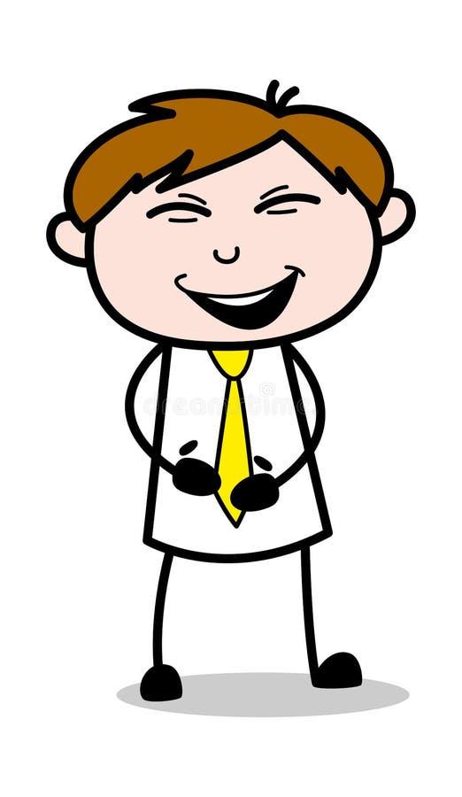 Fniss - kontorsrepresentantEmployee Cartoon Vector illustration vektor illustrationer