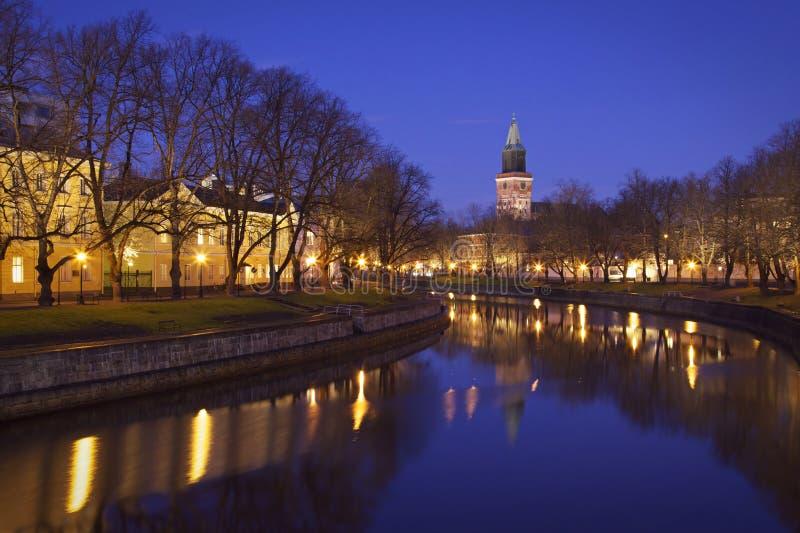 Fnland: River Aurajoki in Turku stock photo