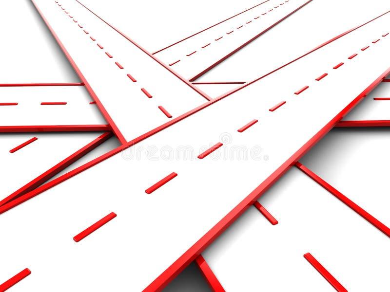 fnurraväg stock illustrationer