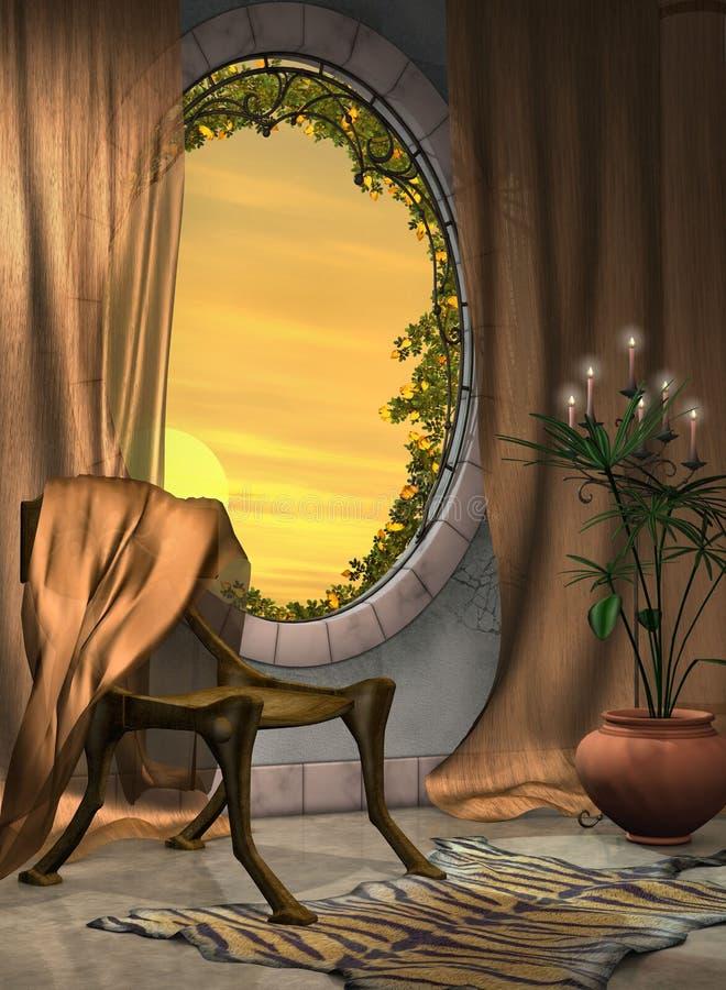 foajéfönster royaltyfri illustrationer