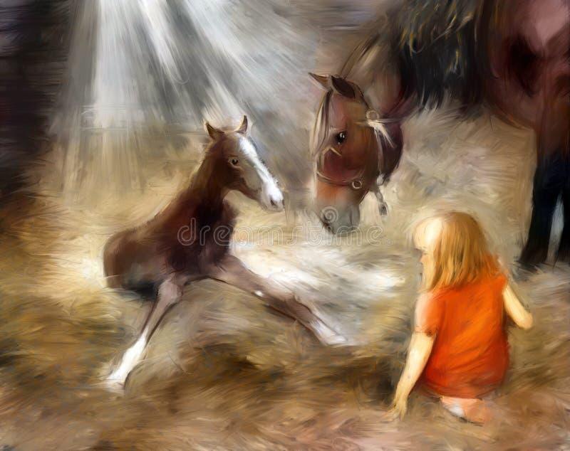 Foal a primeira etapa ilustração royalty free