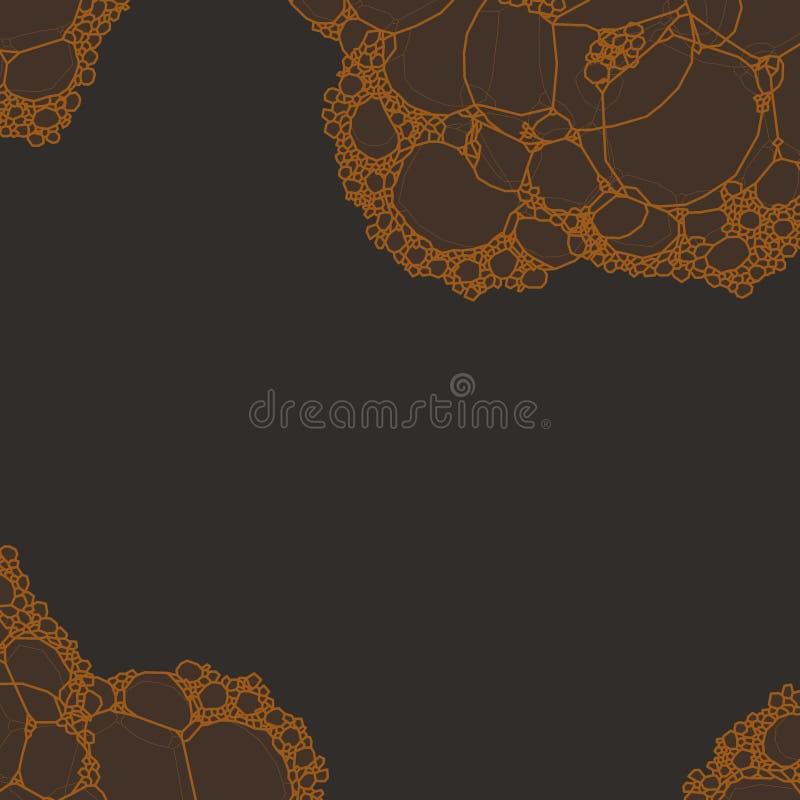 Foam bubbles on dark background vector illustration