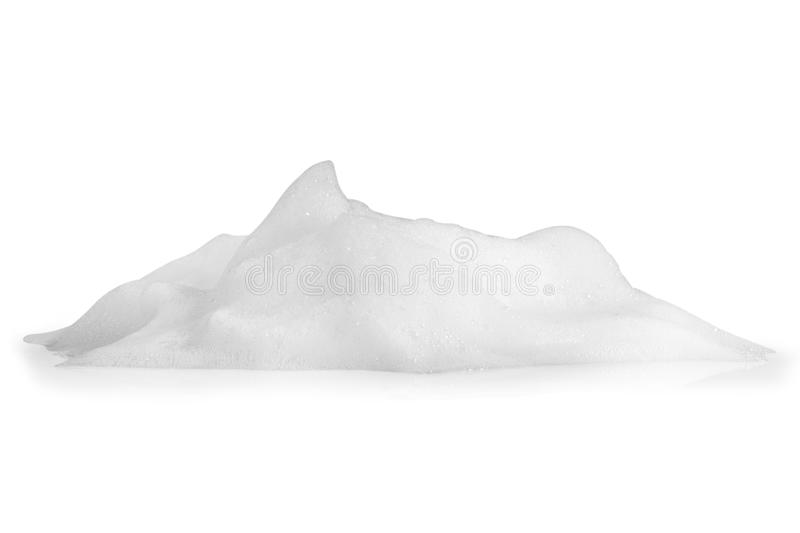 Foam bubbles texture isolated on white background stock image
