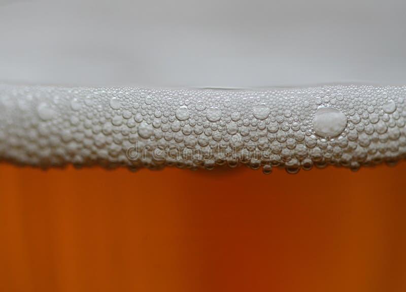 Foam on cider stock photos
