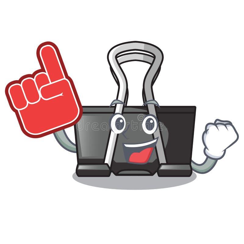 Foam finger binder clip for charcter on documents. Vector illustration stock illustration