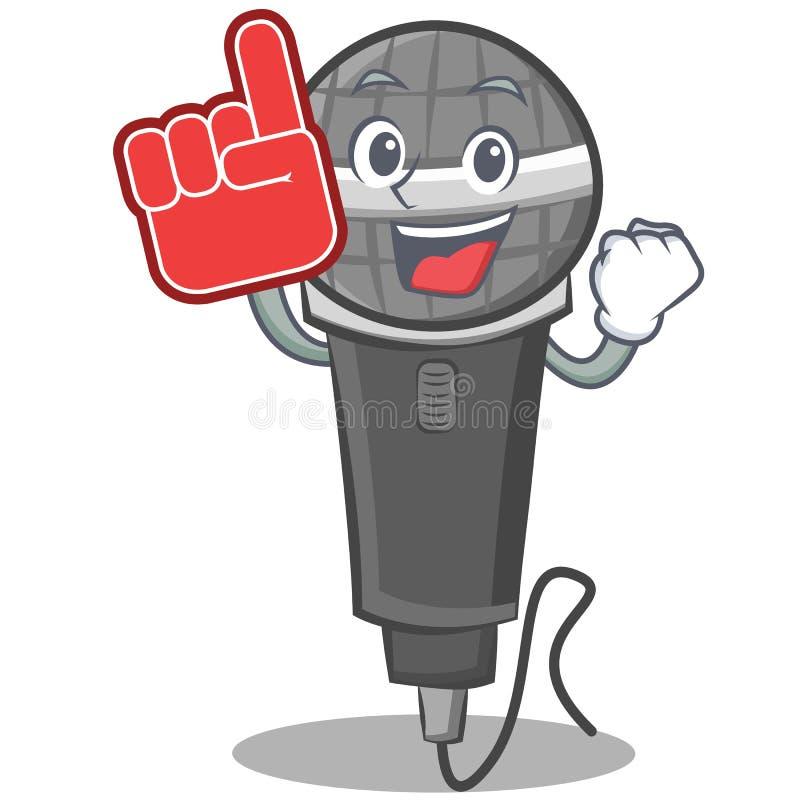 Foam finger microphone cartoon character design. Vector illustration vector illustration