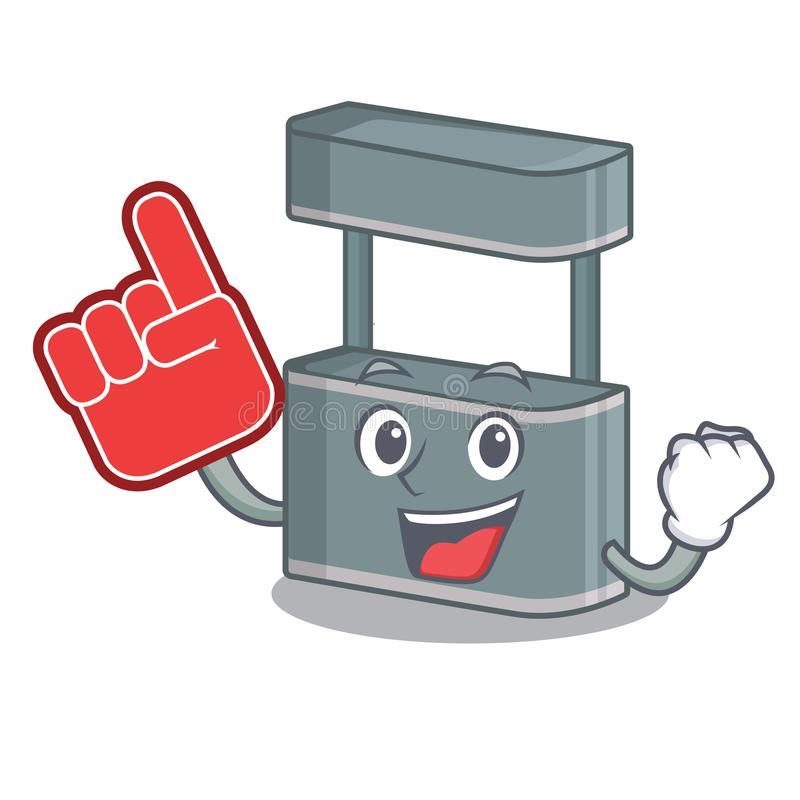 Foam finger toy trade stand on a mascot. Vector illustration royalty free illustration