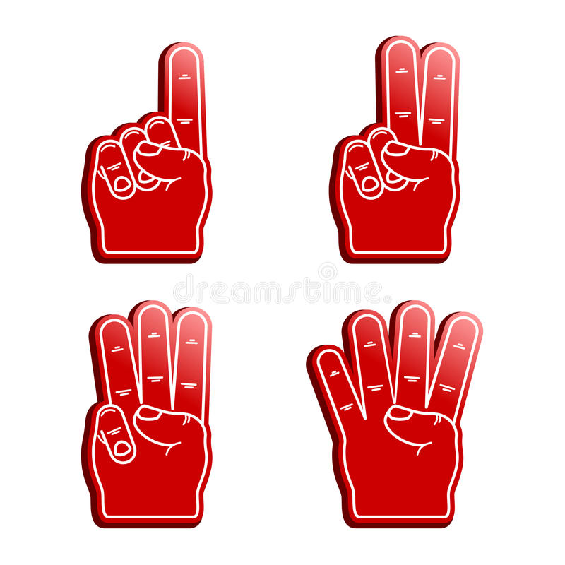 Free Foam Fingers Stock Photography - 40516142
