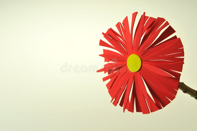 Foam Flowers. Colourful hand made foam flowers on white background stock image