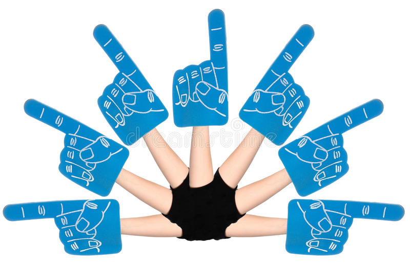 Download Foam Hands stock photo. Image of hand, multiple, directions - 17785442
