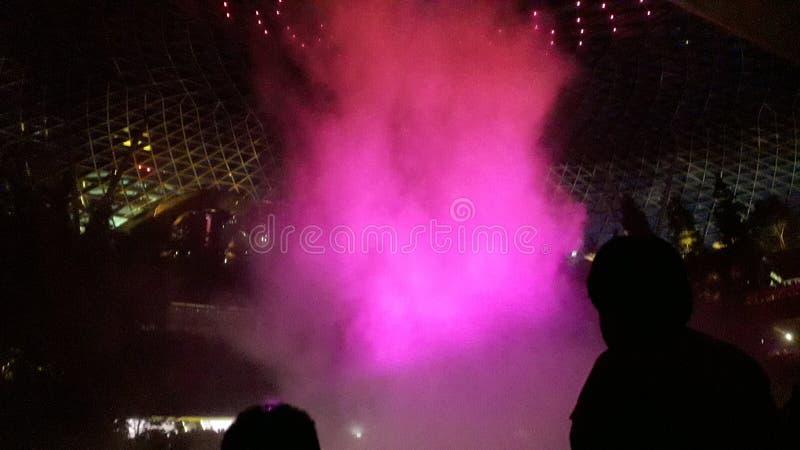 Foam light show royalty free stock photo