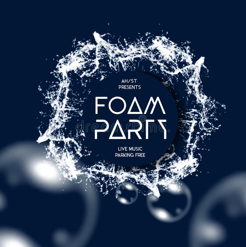 Foam party splash vector background royalty free illustration
