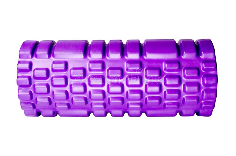 Foam roller. Gym fitness equipment for massage Isolated on white background royalty free stock image