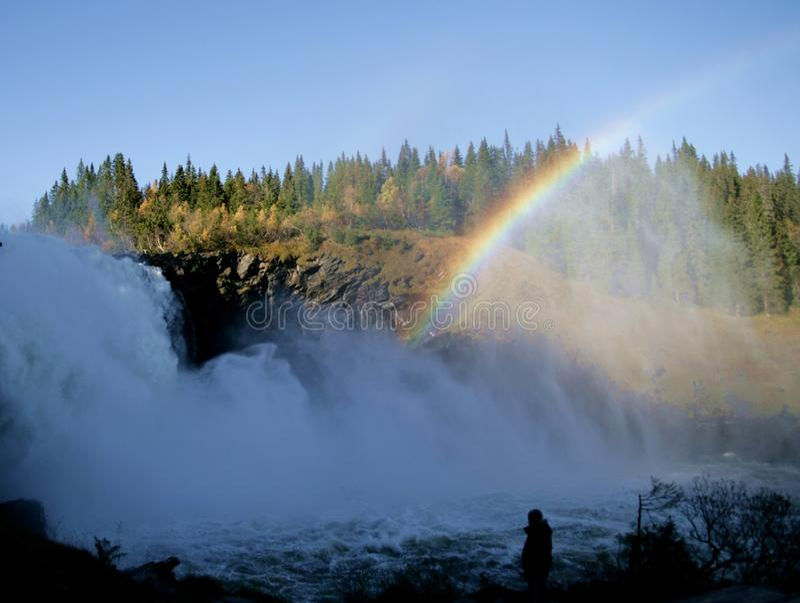 Foaming waterfall royalty free stock photo