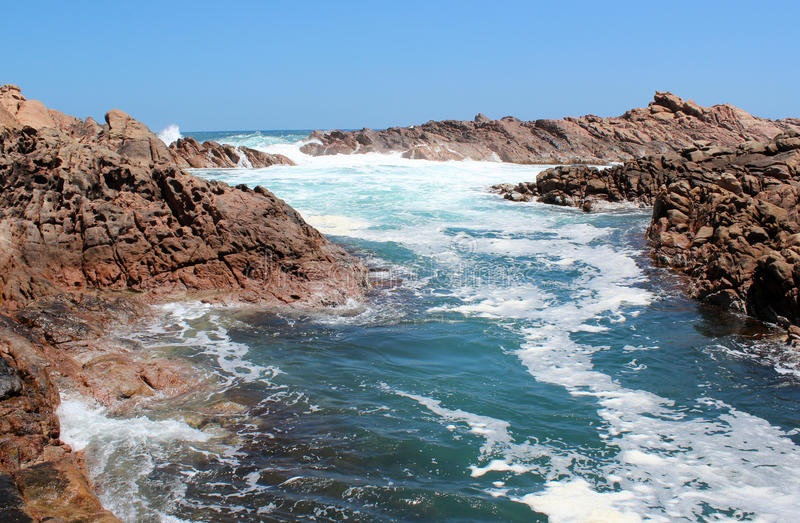 Foaming Waters  At Canal Rocks West Australia Stock Images