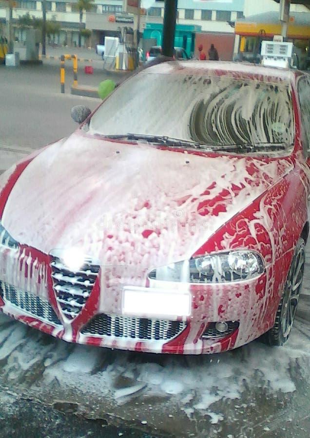 Foamy Car Wash royalty free stock photos