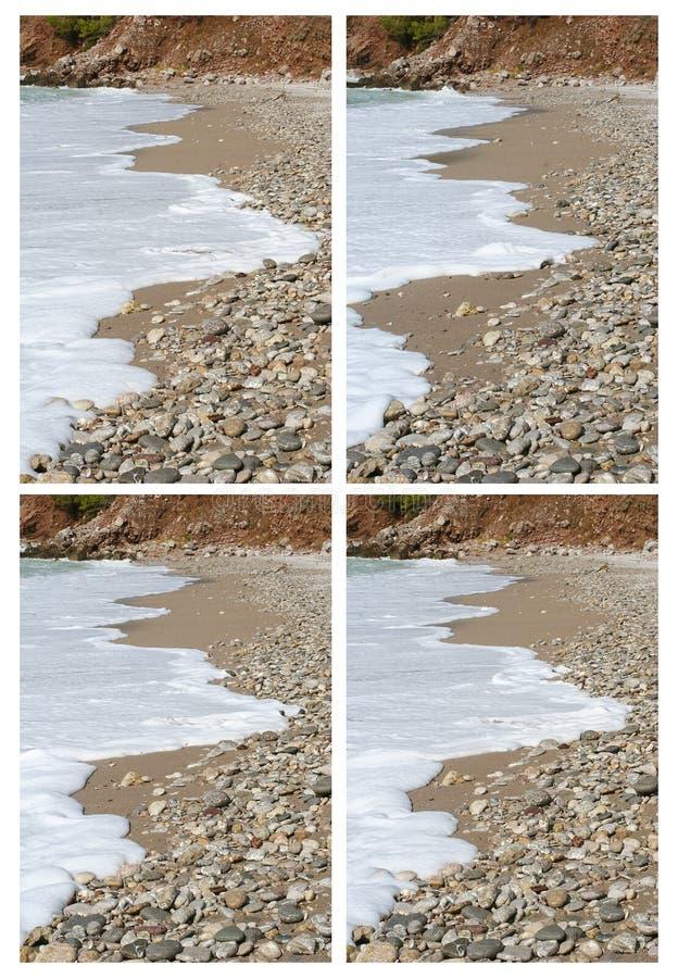 foamy waves arkivbild
