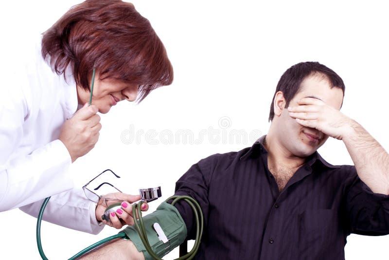 Fobia do doutor   fotografia de stock royalty free