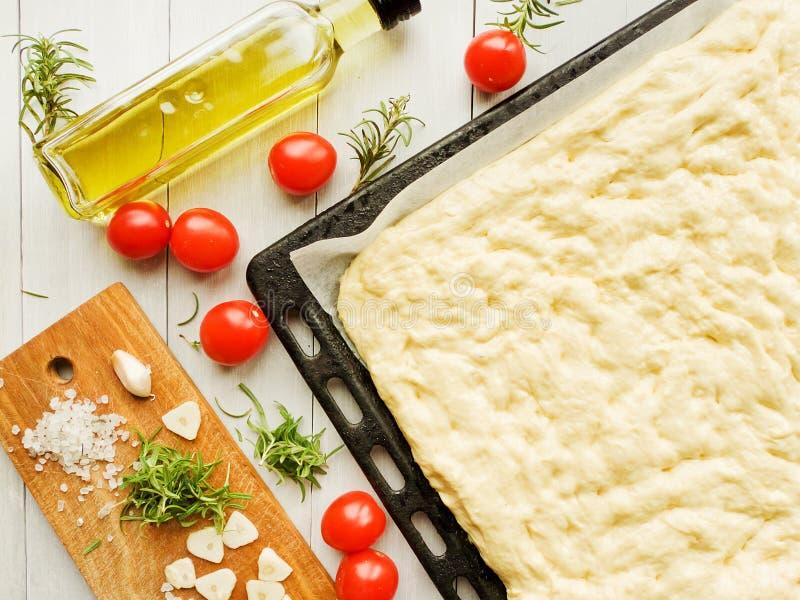 Focaccia italiana tradizionale immagini stock