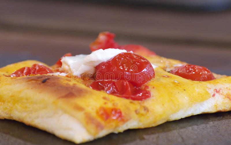 Focaccia pizza in Italy royalty free stock photos