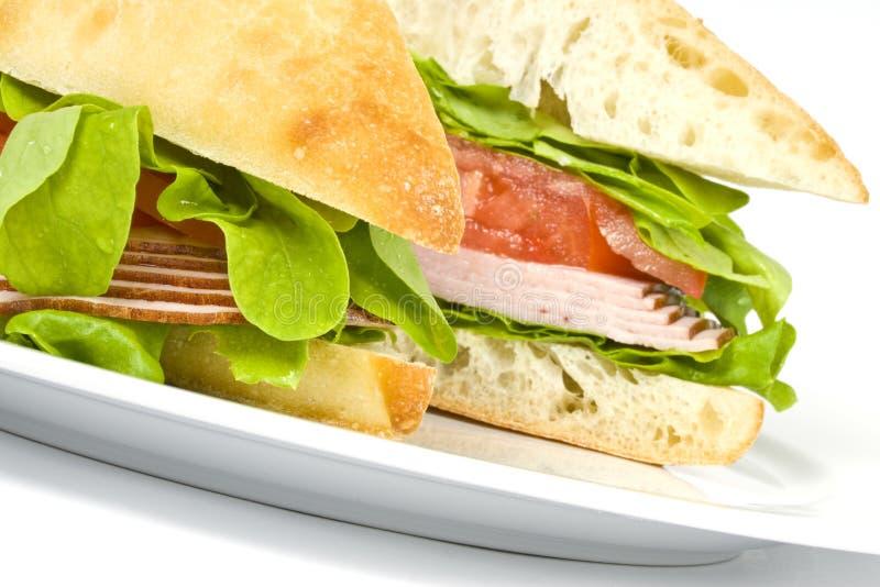 focacciasmörgås royaltyfri foto