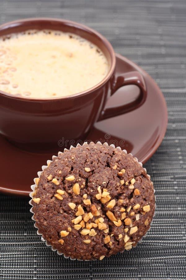 Focaccina e tazza di caffè fotografie stock libere da diritti