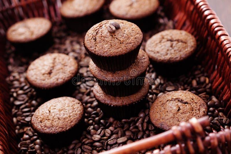 Focaccine del caffè espresso immagini stock