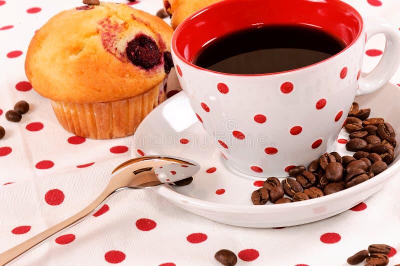 Focaccine e caffè fotografie stock