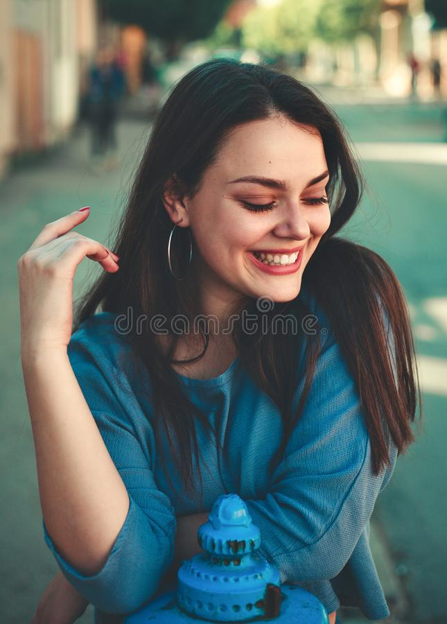 Focal Focus Portrait Photography of Female Smiling royalty free stock photography